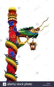 chinese dragon of temple at thailand stock photo royalty free