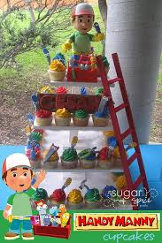 simple cupcakes colored icing handy manny picks kid