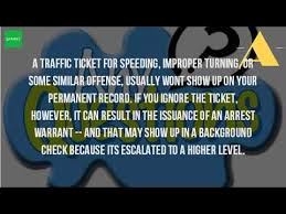 do bench warrants show up on background checks do speeding tickets show up on a criminal background check youtube
