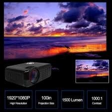 m17 lcd projector 1080p led projector beamer 1500 lumen sales