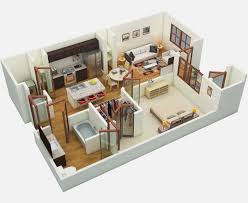 Studio Apartment Floor Plans Interior Apartment Studio Floor Plan With Leading Apartments