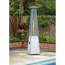 hanging patio heater living accents pyramid propane patio heater stainless steel