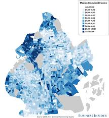 Nyc Neighborhoods Map New York City Income Maps Business Insider
