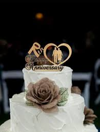 m m cake toppers 70 th anniversary cake topper personalized rustic wedding cake