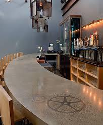 concrete top bar table raising the concrete bartop in new england concrete decor