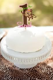 monkey jungle cake topper girly mod monkey birthday cake