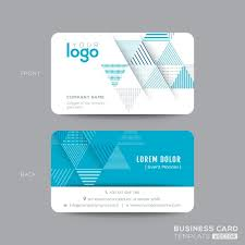business card template vector business letter template
