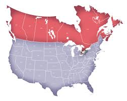 combined map of usa and canada us border with canada map within usa all world maps