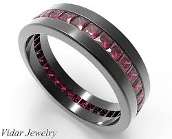 mens rings ruby images Rubies wedding ring for him in 14k 18k black gold vidar jewelry png