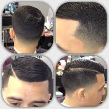 tag comb over fade haircut with line latest men haircut
