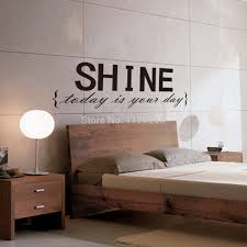 compare prices on bedroom stickers quotes online shopping buy low vinyl wall stickers quotes shine removable decorative decals for bedroom decor china