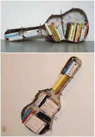 guitar case reused into bookshelf u2022 recyclart