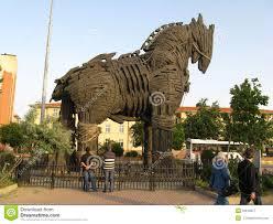 troy in turkey trojan horse royalty free stock photo image