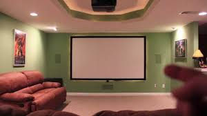 custom home theater custom home theater with drop down projector screen masking and