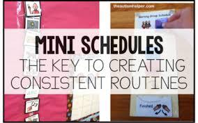 schedules the autism helper