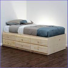 hemnes bed frame with 2 storage boxes white stain length 79 18