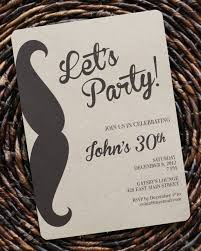 mustache invitations birthday invitation for men or boys guys mustache party