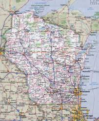 Wisconsin Usa Map by Large Detailed Roads And Highways Map Of Wisconsin State With All