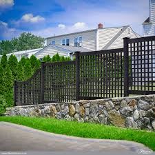 backyard black vinyl fence peiranos fences remove black vinyl