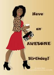 birthday card for women this is an card of boldly dresses black