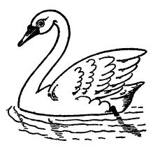 vintage kids printable draw swans graphics fairy