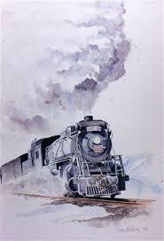 94 best watercolor trains images on pinterest watercolors