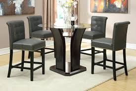 Square Glass Table Top Round Glass Table Top 5pc Counter Height Dining Set W Gray Or