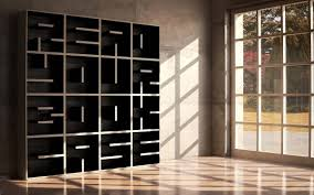 modular bookcase system consists of alphanumeric shelving cubes