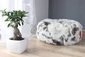 large lush u0026 soft goat faux fur bean bag cloud chair cover fur