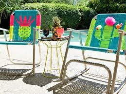Fixing Patio Chairs How To Macrame A Vintage Lawn Chair How Tos Diy