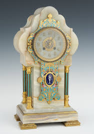 Crystal Mantel Clocks A Vintage French Champleve Enameled Mantel Clock Retailed By
