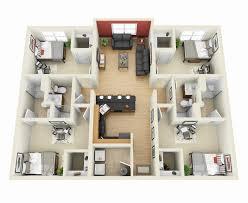 Floor Plan 3d 4 Bedroom House Floor Plans 3d Home