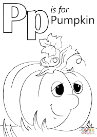 letter p is for pumpkin coloring page free printable coloring pages