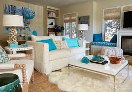 interior living room blue and orange design interior for