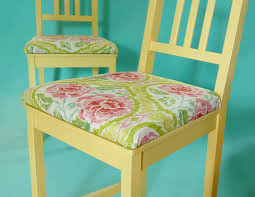 diy add upholstered cushions to chairs