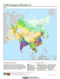 biomes map maps anthropogenic biomes of the v1 sedac