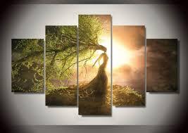 chambre de d馗ompression hd imprimé bel arbre assistant groupe peinture décoration de la