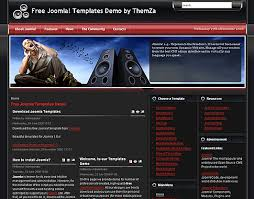 free joomla 1 5 x templates feel the music by themza