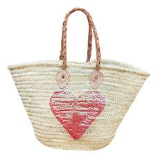 wicker basket with leather handles sequin baskets natural baskets wholesale from morocco leather