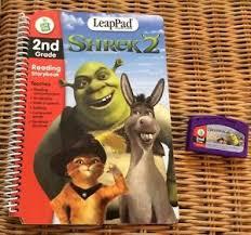 leappad leapfrog book u0026 cartridge shrek 2 2nd grade ebay