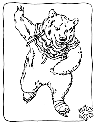 coloring pages of drawing bears bear to color children valentines