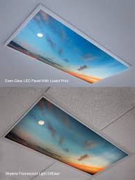 Cover Fluorescent Ceiling Lights Skylens Fluorescent Light Diffuser Summer Sky Decorative Light