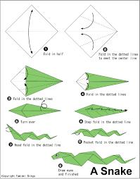 Origami Snake - snake easy origami for