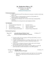 Occupational Therapy Resume New Grad Cover Letter For Occupational Therapy Job Ascend Surgical Sales