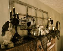 halloween party decorating ideas scary corner of plaid and paisley halloween mantel spooky fun party