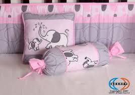 Pink And Gray Crib Bedding Sets Boutique Pink Gray Elephant 13pcs Crib Bedding Sets Baby Bedding