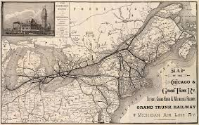 grand map grand trunk western railroad