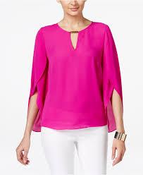 inc international concepts chiffon keyhole blouse only at macy u0027s