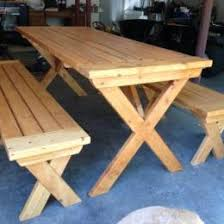 Designs For Wooden Picnic Tables by Free Diy Furniture Plans To Build A Potterybarn Inspired