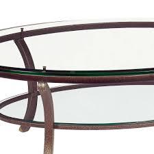 Wohnzimmer Italienisch Italienischer Couchtisch Alasco Mit Ovaler Glasplatte Antik